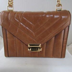 Michael Kors Acorn Whitney Lg Quilted Shoulder Bag